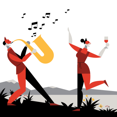 style Festival de musique en plein air images in PNG and SVG | Icons8 Illustrations