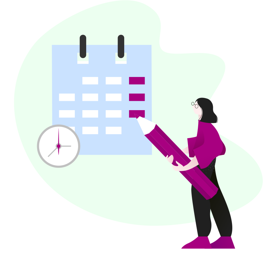 Making a schedule Clipart illustration in PNG, SVG