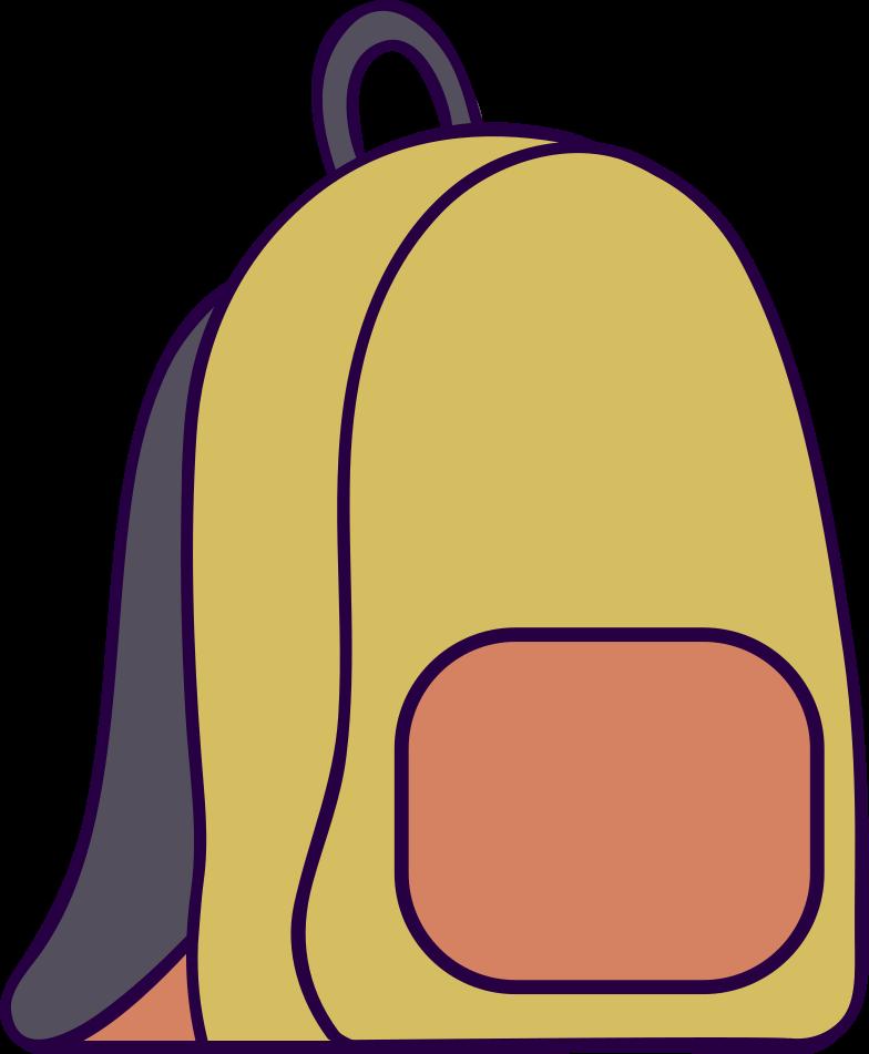 Illustration clipart backpack aux formats PNG, SVG