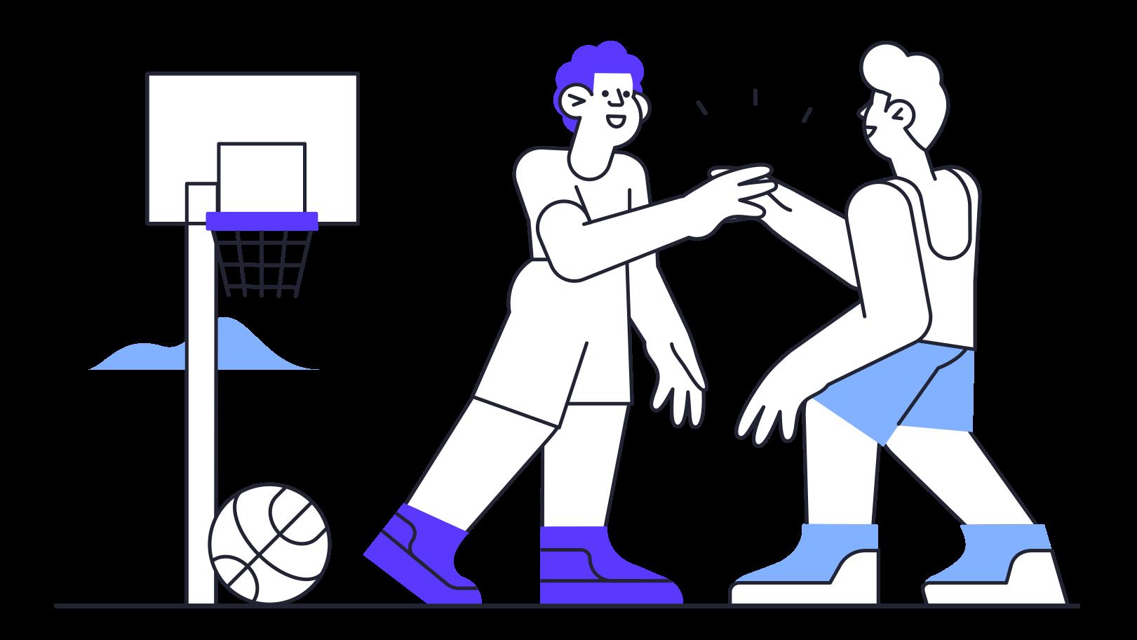 Basketball game Clipart illustration in PNG, SVG