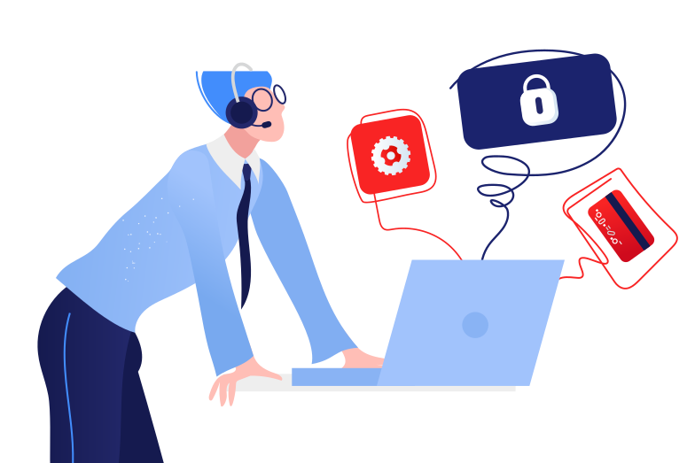 Customer support Clipart illustration in PNG, SVG