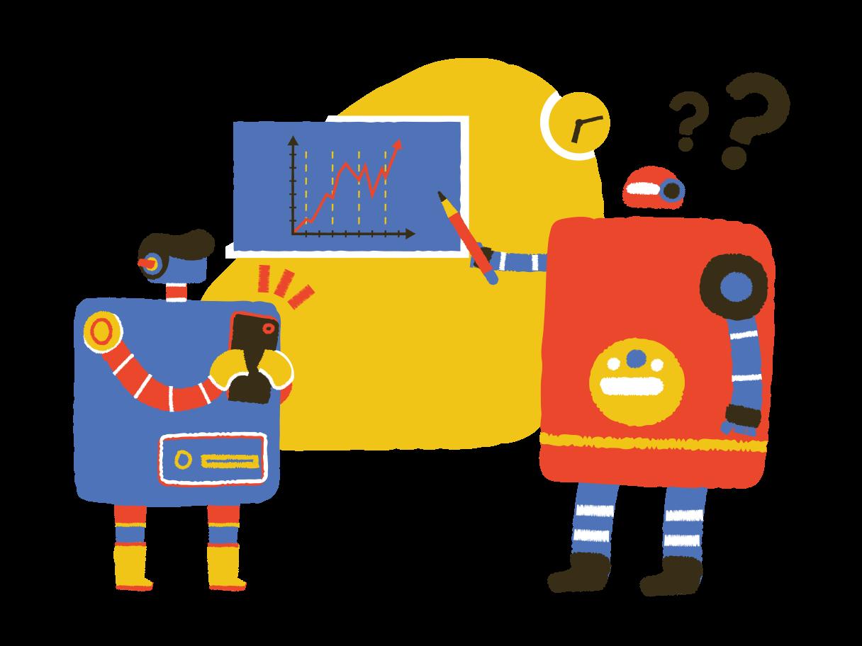 School for robots Clipart illustration in PNG, SVG