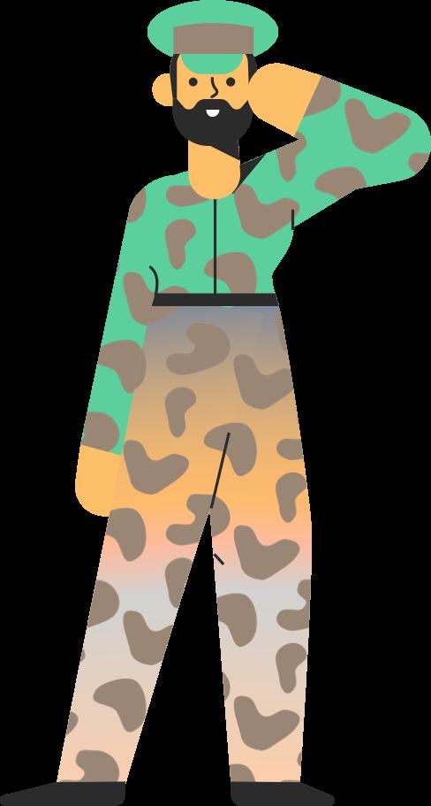 Illustration clipart Militaire aux formats PNG, SVG
