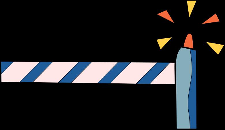 come back later  barrier Clipart illustration in PNG, SVG