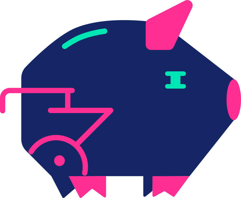 piggy bank Clipart illustration in PNG, SVG