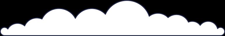 cloud 1 line Clipart illustration in PNG, SVG
