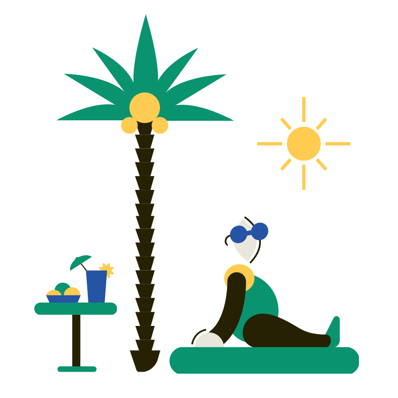 Relax Clipart illustration in PNG, SVG