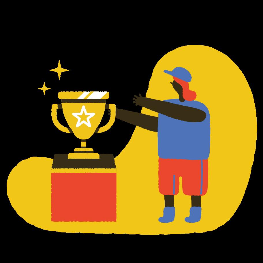 Take your trophy Clipart illustration in PNG, SVG