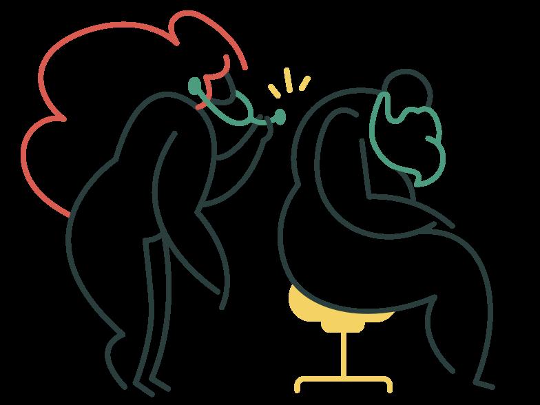 Medical examination Clipart illustration in PNG, SVG