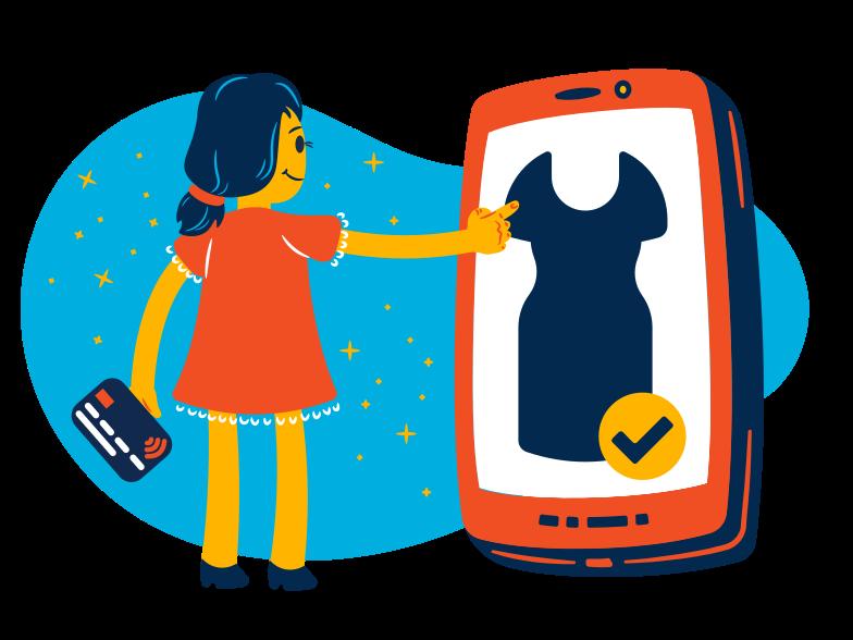 Shopping online Clipart illustration in PNG, SVG