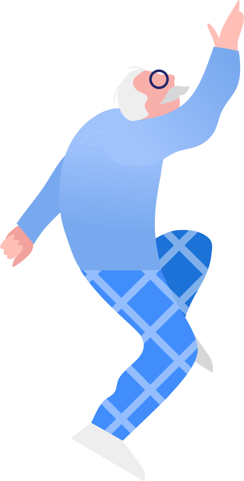 grandpa jumping Clipart illustration in PNG, SVG