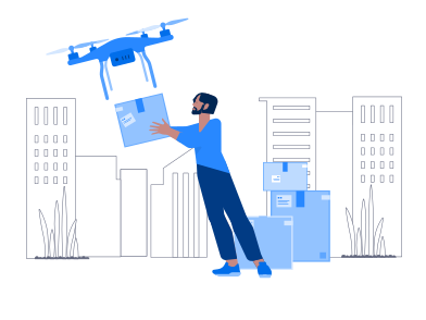 style Drone Delivery images in PNG and SVG | Icons8 Illustrations
