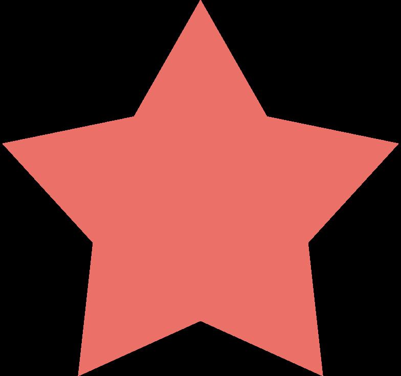 star pink antique Clipart illustration in PNG, SVG