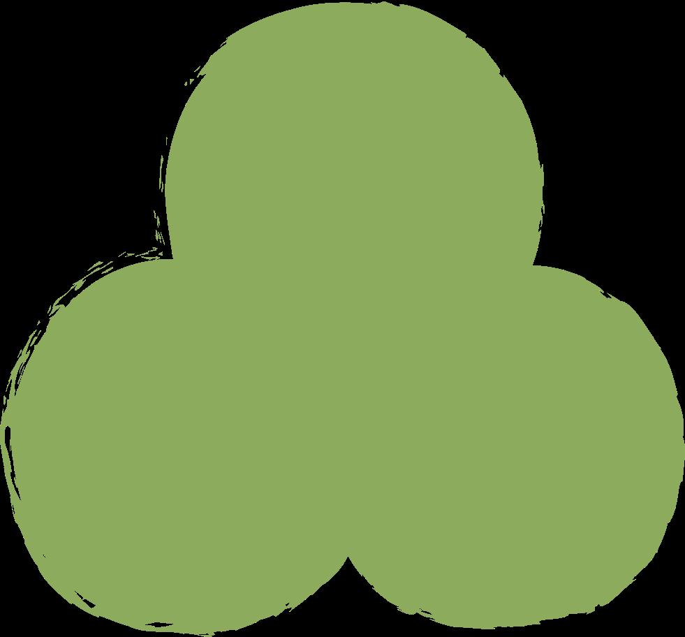 trefoil-dark-green Clipart illustration in PNG, SVG