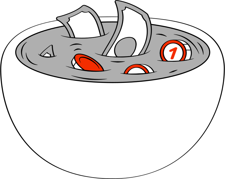 pot with money Clipart illustration in PNG, SVG