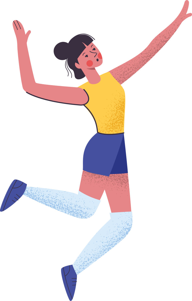 voleyball player Clipart illustration in PNG, SVG