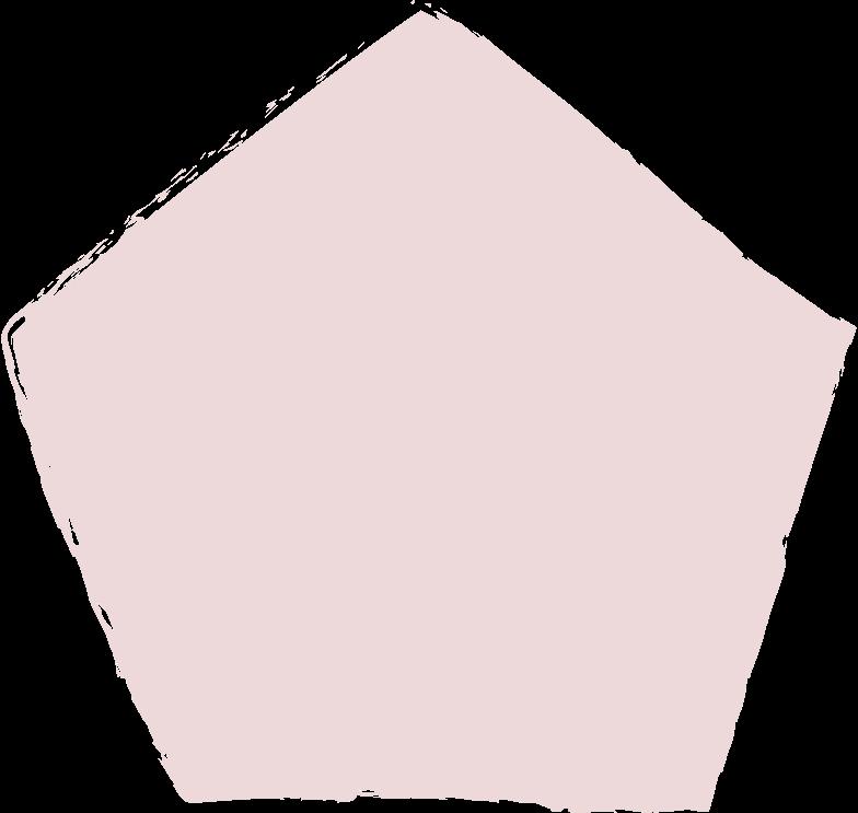 pentagon-pink Clipart illustration in PNG, SVG