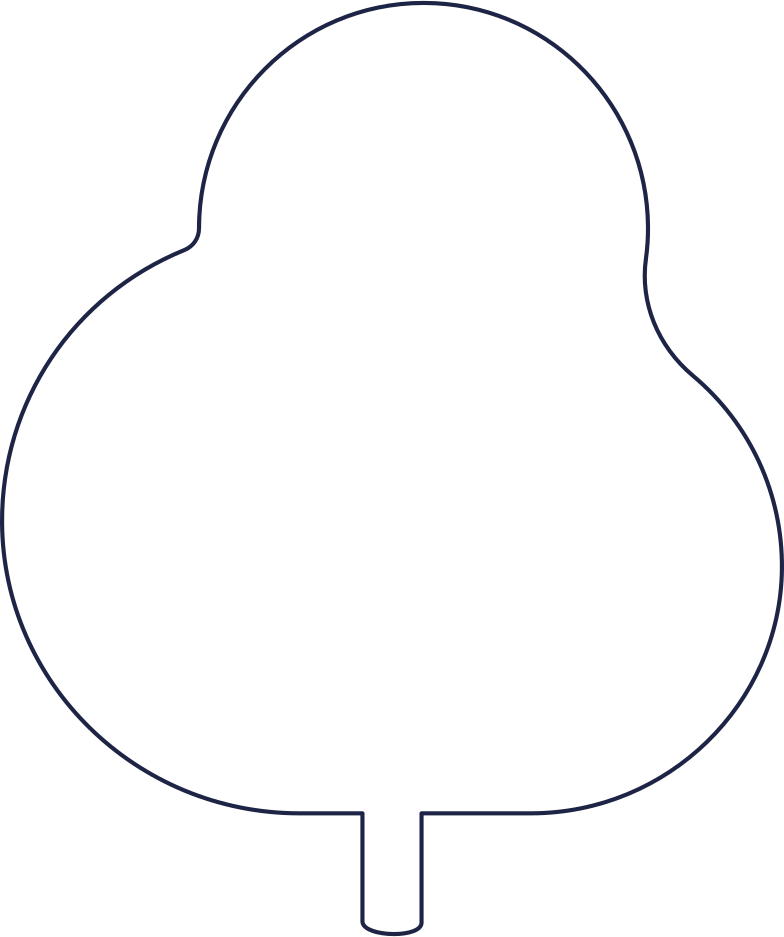 no message  tree 1 line Clipart illustration in PNG, SVG