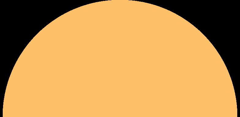 semicircle orange Clipart illustration in PNG, SVG