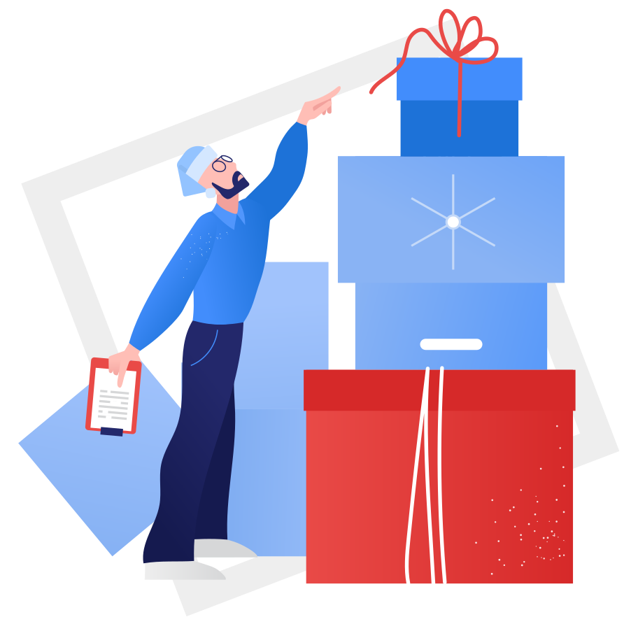 Gift warehouse Clipart illustration in PNG, SVG