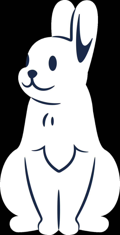 rabbit calm Clipart illustration in PNG, SVG