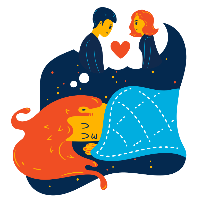 Dream of love Clipart illustration in PNG, SVG
