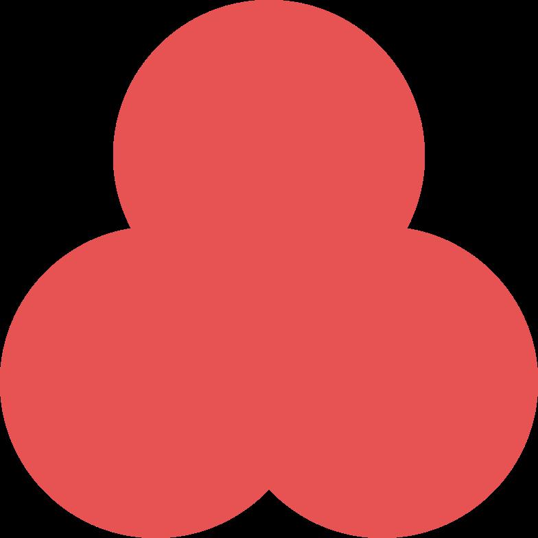 trefoil-red Clipart-Grafik als PNG, SVG