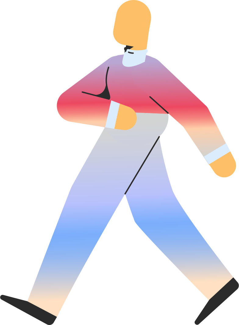 adult walking Clipart illustration in PNG, SVG