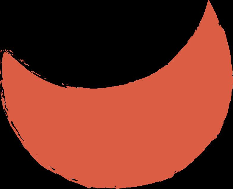 crescent-red Clipart illustration in PNG, SVG