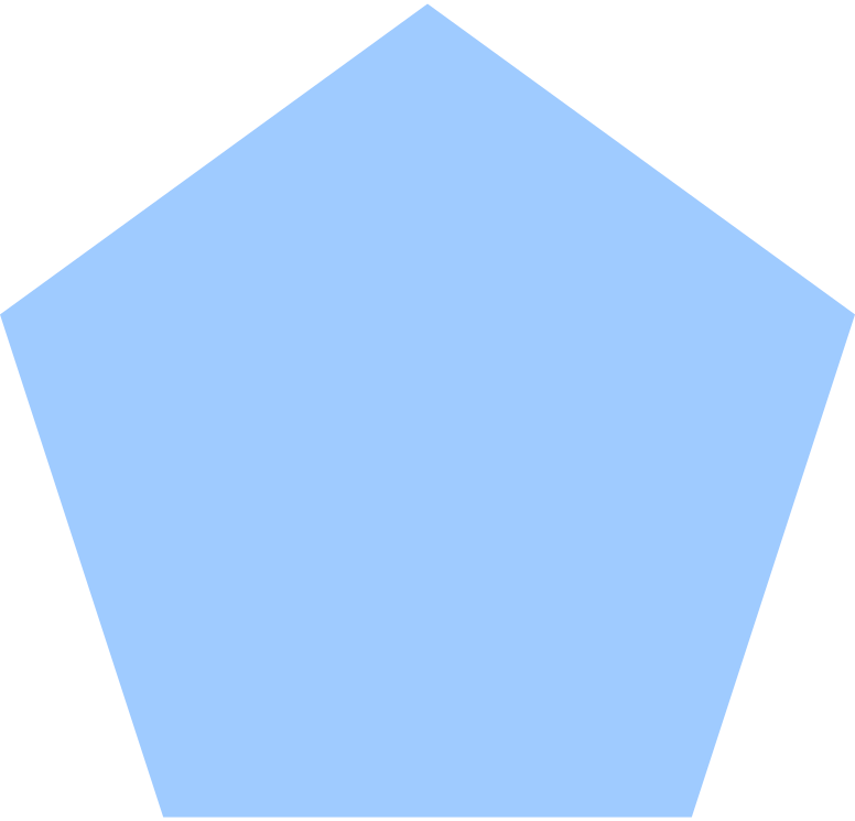 pentagon-light-blue Clipart illustration in PNG, SVG