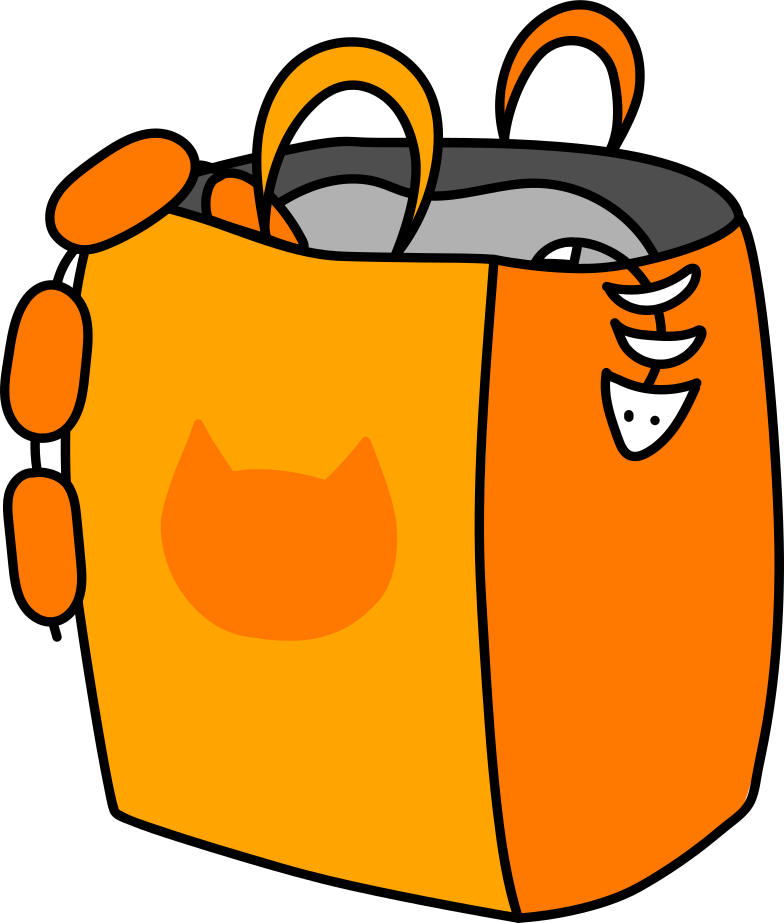 package with purchases Clipart illustration in PNG, SVG