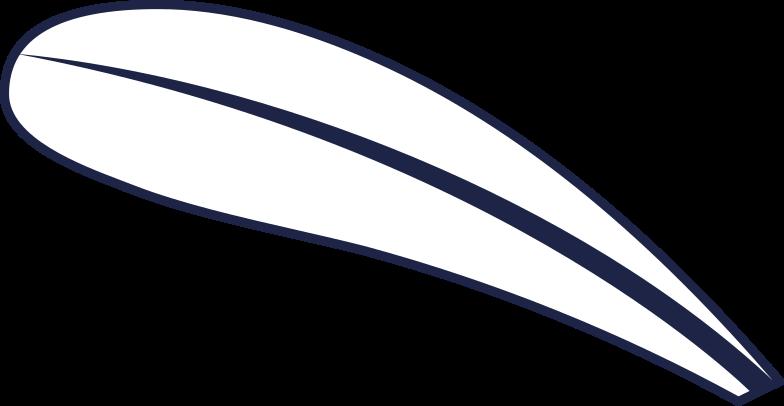 leaf 1 line Clipart illustration in PNG, SVG
