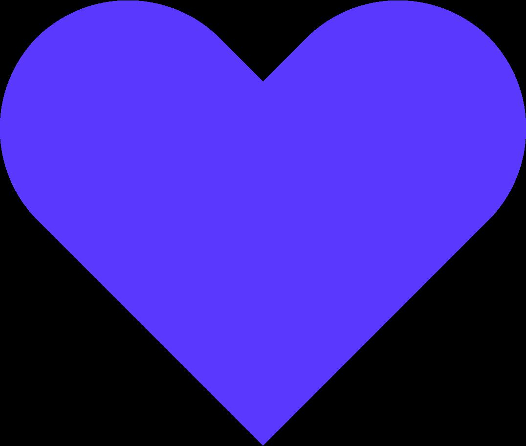 blue heart Clipart illustration in PNG, SVG
