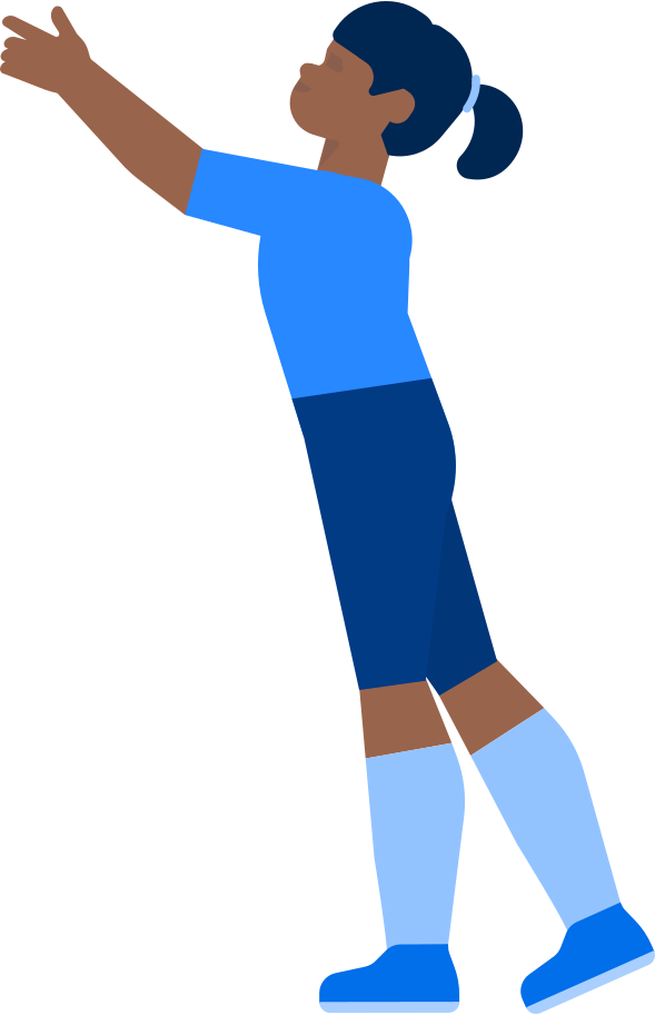 girl with a raised hand Clipart illustration in PNG, SVG