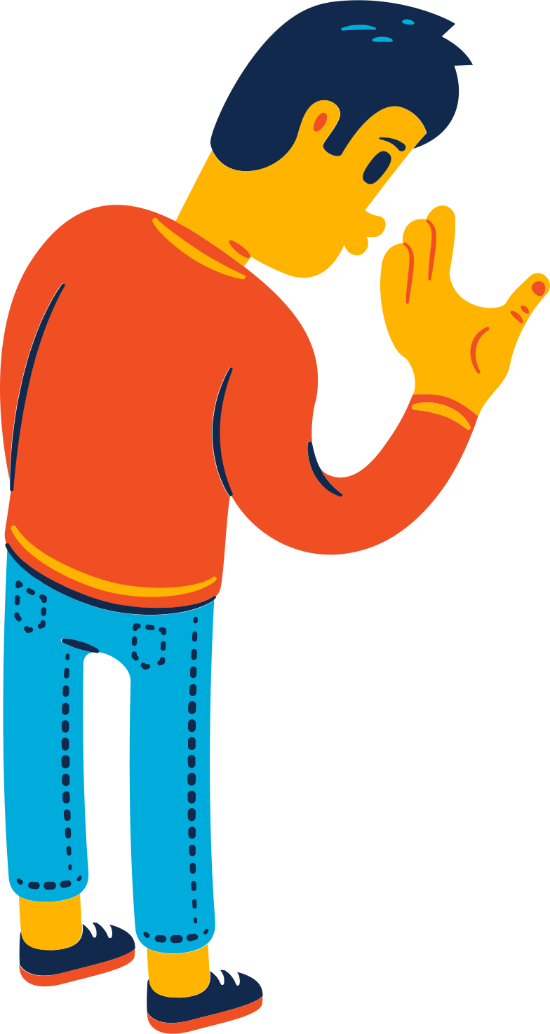 man looking Clipart illustration in PNG, SVG