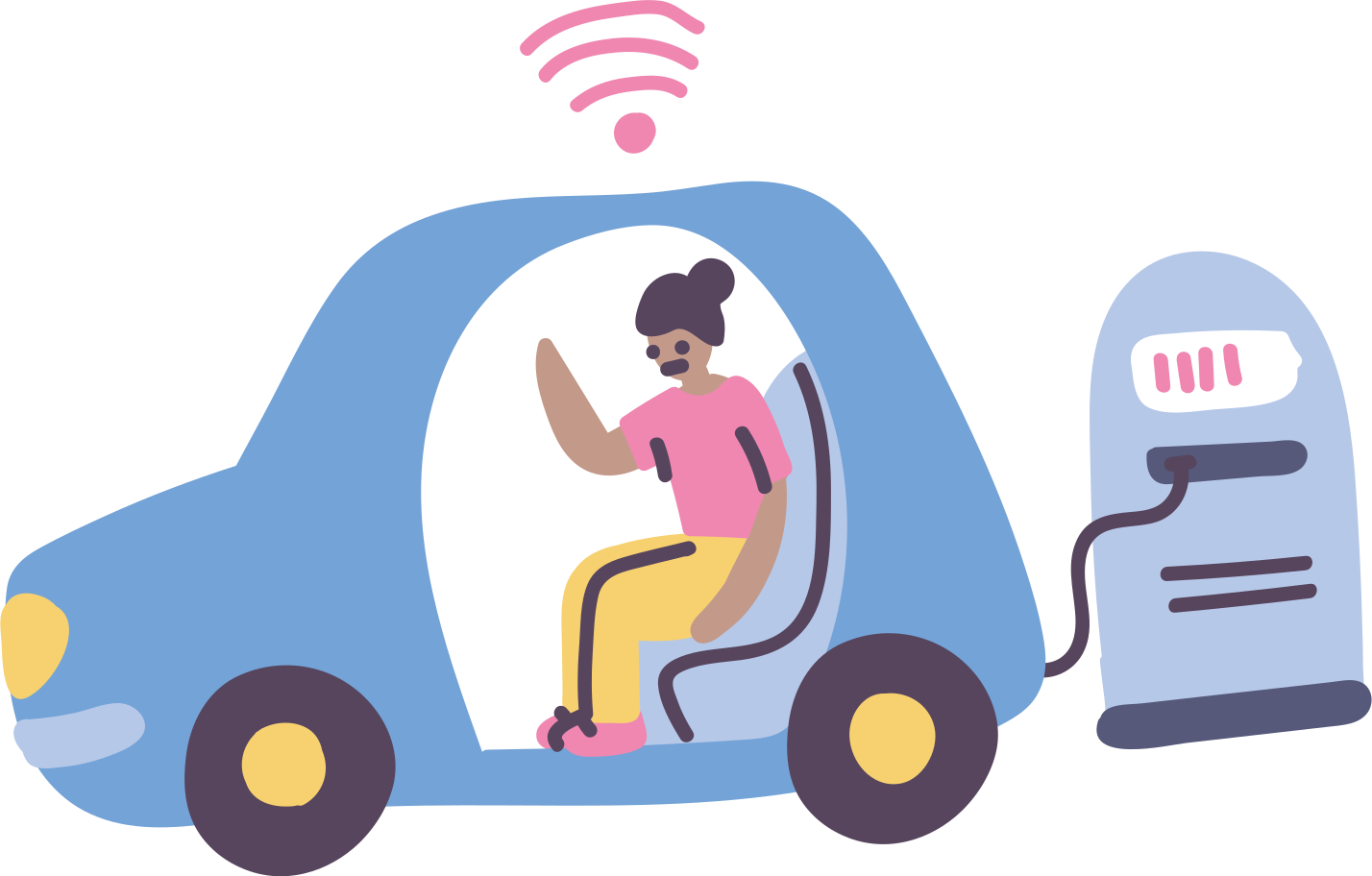 Electric vehicle Clipart illustration in PNG, SVG