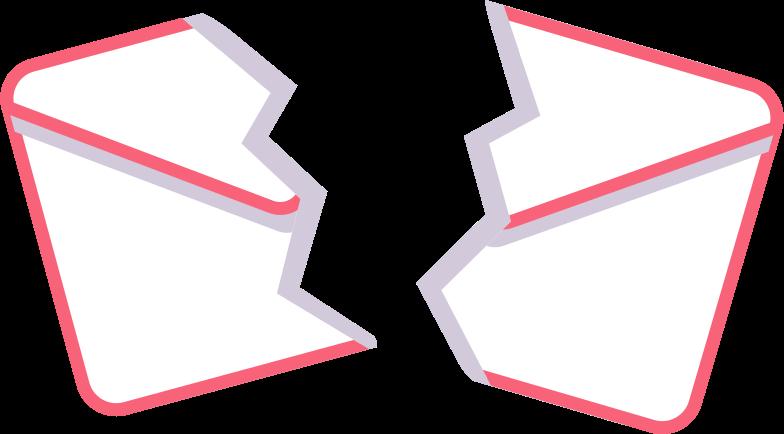 torn envelope Clipart illustration in PNG, SVG