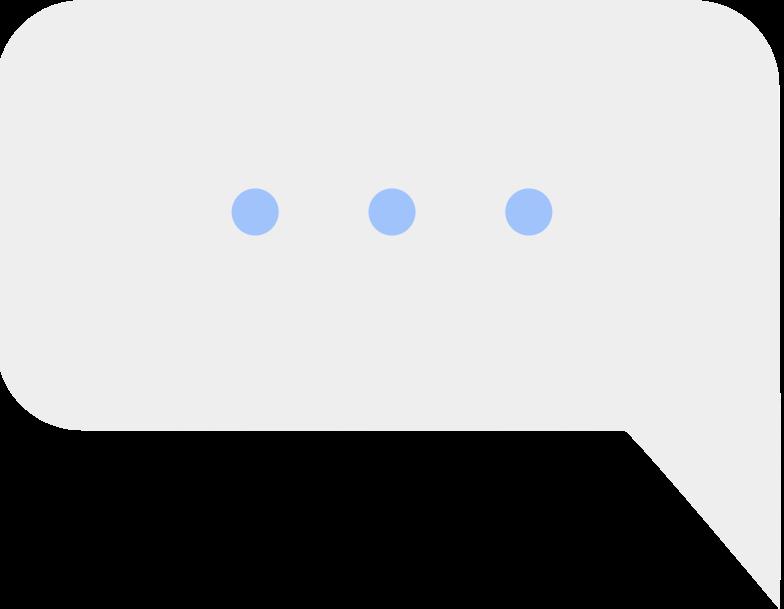 message cloud ellipsis Clipart illustration in PNG, SVG