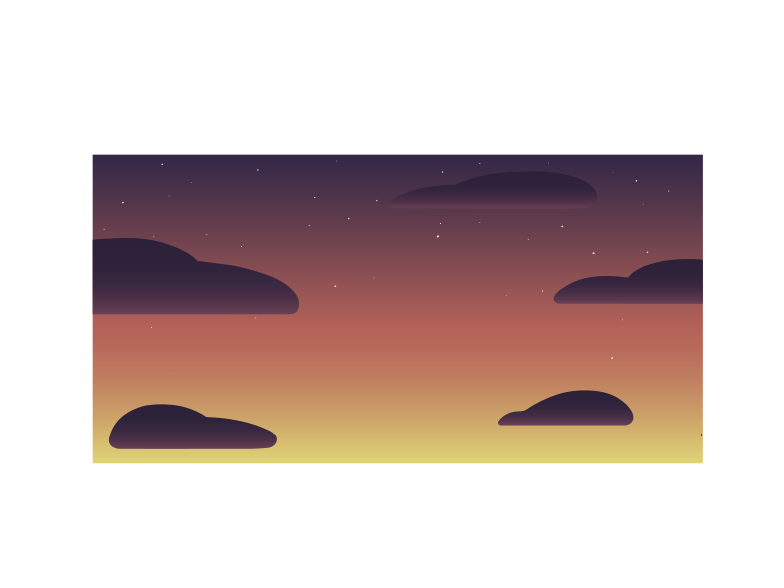 night sky Clipart illustration in PNG, SVG