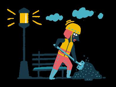 Иллюстрация подсобный рабочий в стиле  в PNG и SVG | Icons8 Иллюстрации