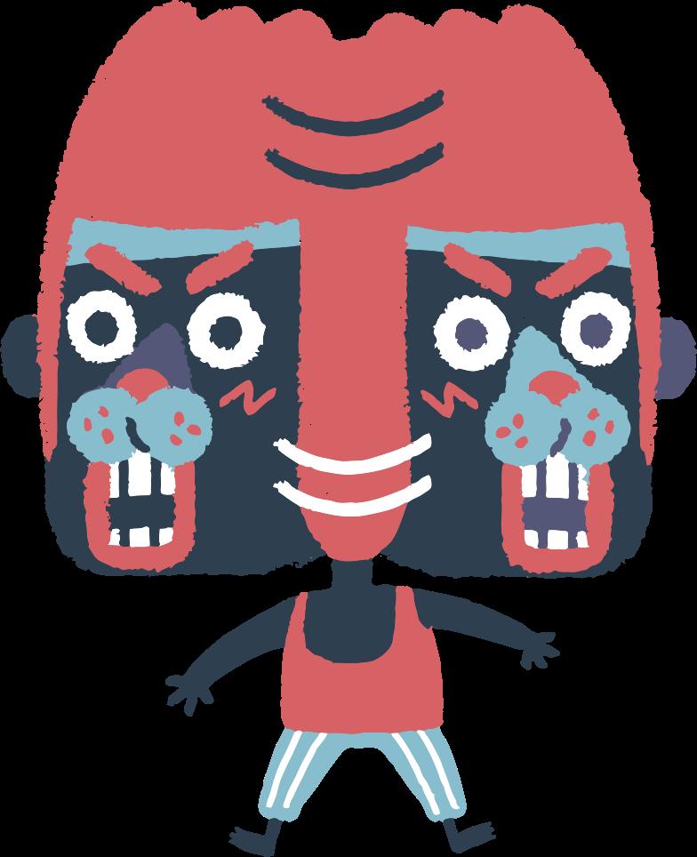 Ilustración de clipart de shaking head en PNG, SVG