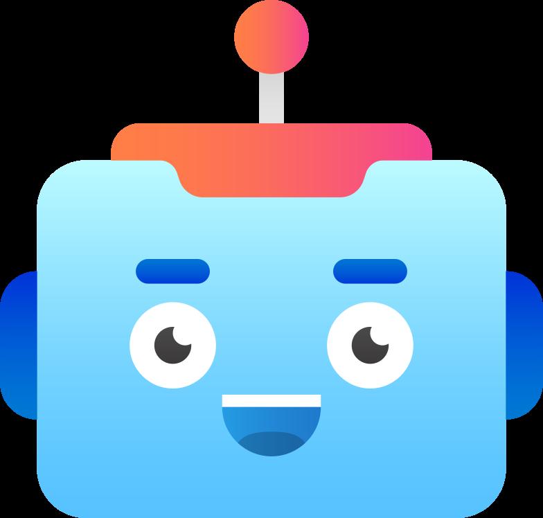robot-head Clipart illustration in PNG, SVG