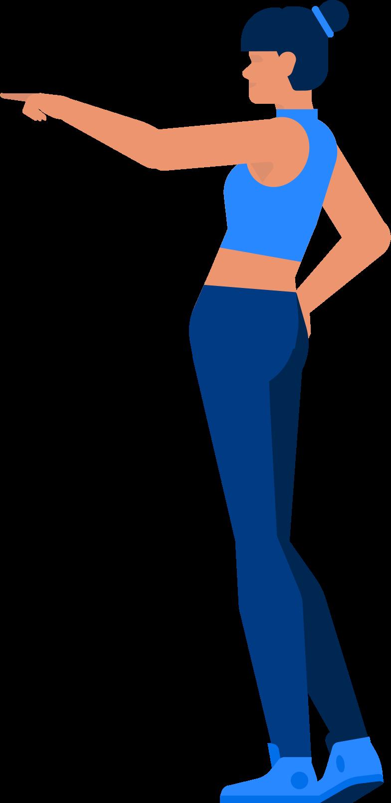 fitness girl Clipart illustration in PNG, SVG