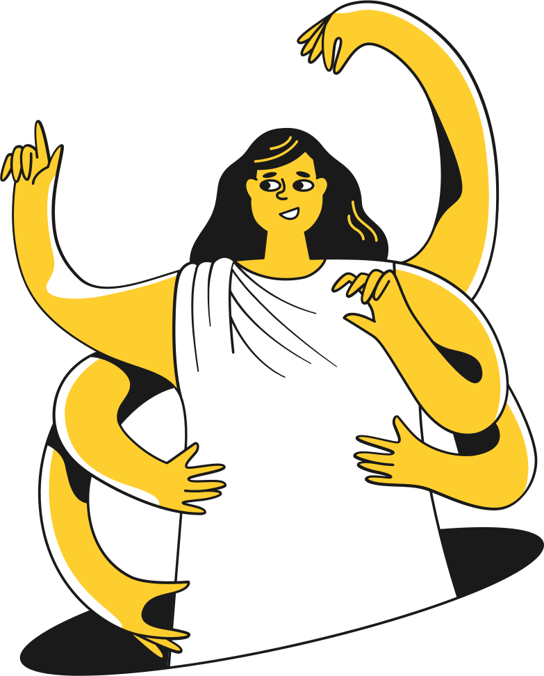 woman in a robe Clipart illustration in PNG, SVG