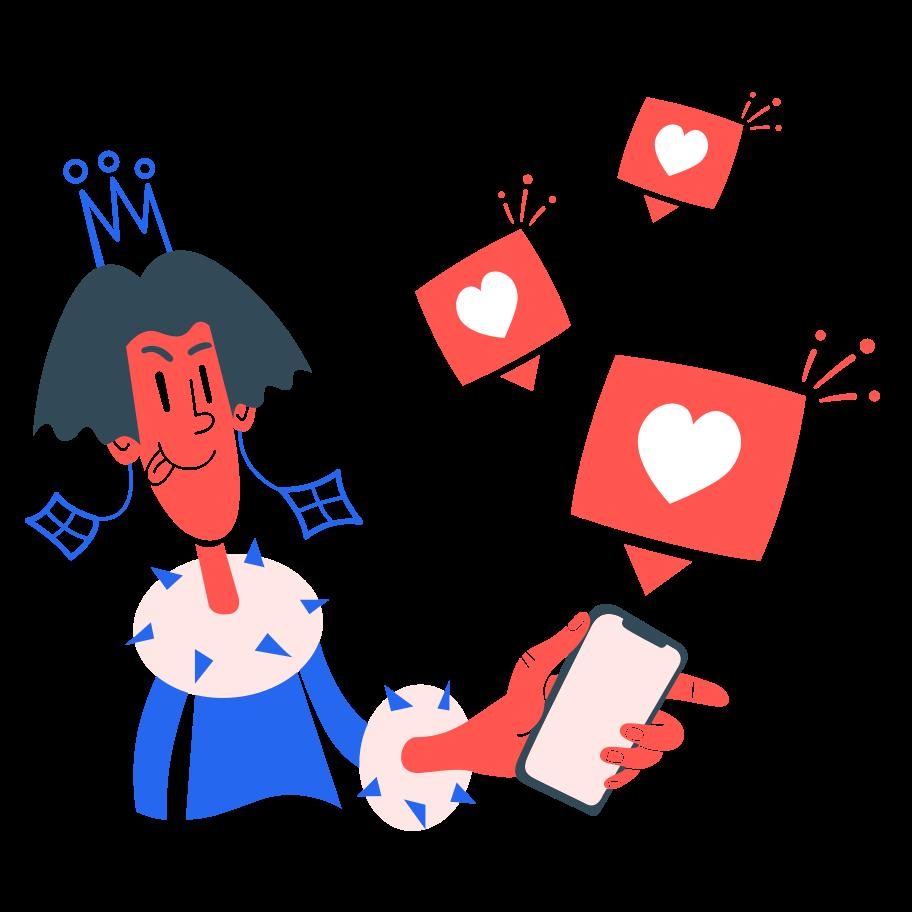 Online love Clipart illustration in PNG, SVG