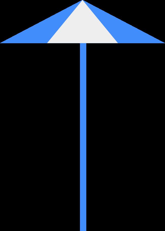 beach umbrella Clipart illustration in PNG, SVG