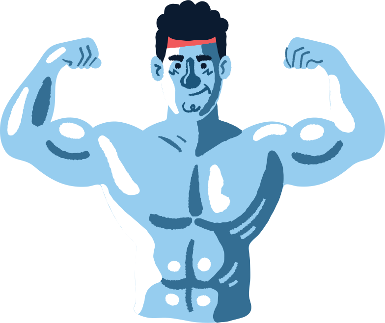 strong man Clipart illustration in PNG, SVG