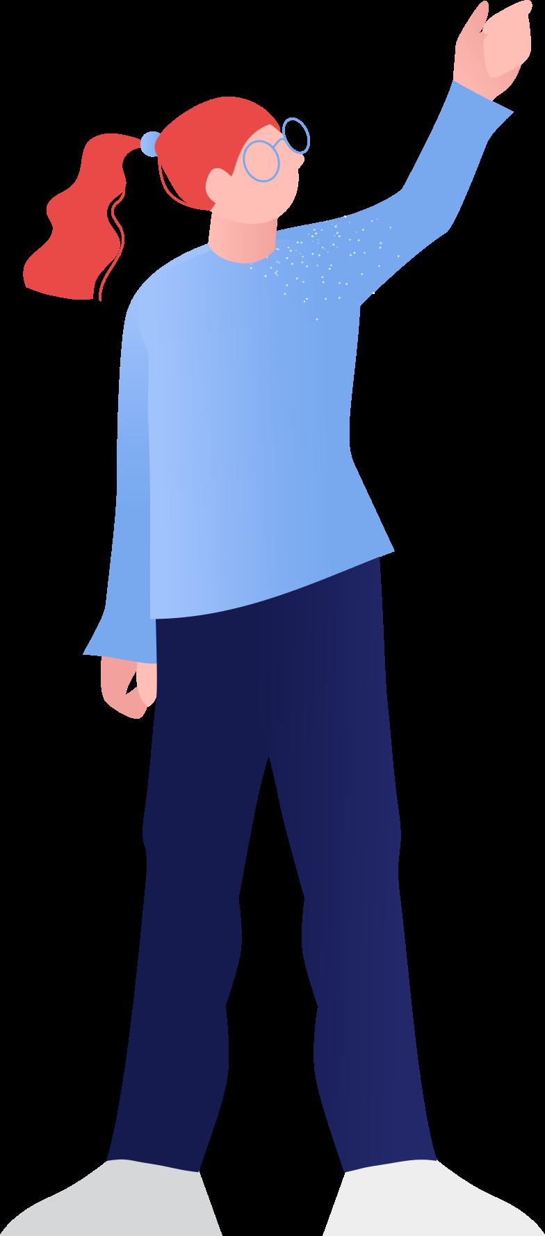 Ilustración de clipart de Mujer sosteniendo algo en PNG, SVG
