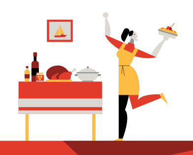 style Thanksgiving dinner images in PNG and SVG | Icons8 Illustrations