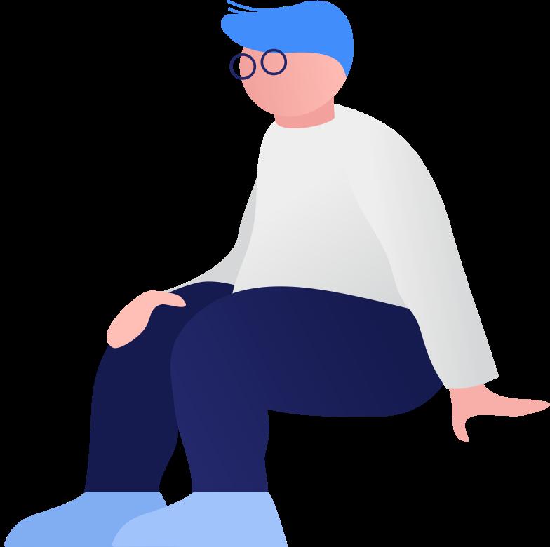 fat boy sitting Clipart illustration in PNG, SVG